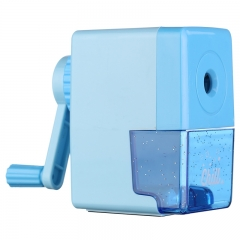 晨光(M&G)文具蓝色方款半自动削笔机 铅笔削笔器 卷笔刀转笔刀 单个装APS906A3