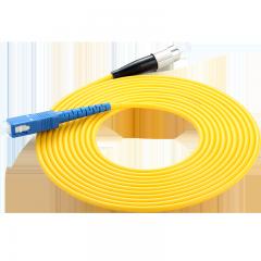 胜为(shengwei)光纤跳线 电信级SC-FC网线单模单芯 3米 收发器尾纤 FSC-102