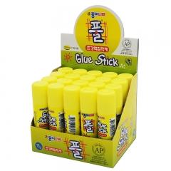 南韩进口固体胶15g黄色超粘型/儿童手工/学生/办公财务胶棒 20支/盒