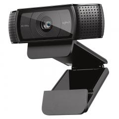 罗技(Logitech)Pro C920 高清网络摄像头 主播推荐摄像头 高颜值 吃鸡斗鱼直播摄像头 1080P