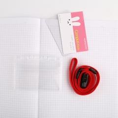日本国誉(KOKUYO)Campus Kids儿童学生ID卡证件卡软壳胸卡挂牌吊牌56*91mm 兔子WSG-NFK21-3