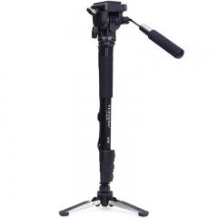 云腾(YUNTENG)独脚架 038专业摄影摄像独脚架 液压云台单脚架 单反相机DV摄像机自拍架带支撑脚掌独角架