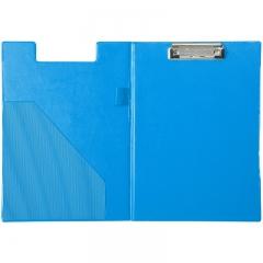 齐心(Comix) TR19 双折式书写板夹A4 直条纹 蓝色