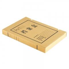 得力(deli)5923 纯浆牛皮纸久存耐用档案盒 30mm 10个装