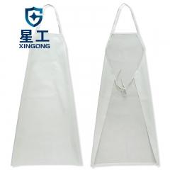 星工(XINGGONG) 防水防油耐酸碱围裙无袖简约厨房食堂家务屠宰场洗车劳保围裙工作服  白色  10条