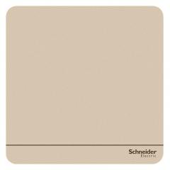 施耐德电气(Schneider Electric)一开单控开关 86型开关插座面板  绎尚系列 薄暮金色E8331L1_WG