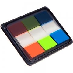 齐心(Comix)D7009EC 荧光膜指示标签/便签条/便利贴/百事贴 3个装 (44x20mm)20张*3色