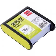 得力(deli)91×87mm带盒便签纸/便条纸/便签本 绿/黑边框随机 7606-S