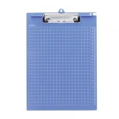齐心(Comix) A724 A4带刻度多功能书写板夹 垫板 蓝