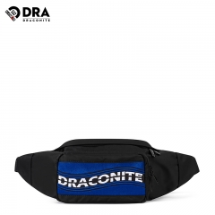 draconite街头潮流腰包男休闲个性嘻哈运动包国潮时尚斜跨小包 13406黑色