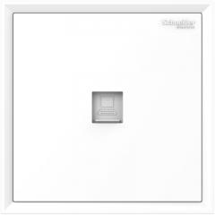 施耐德电气(Schneider Electric)开关插座 单联超五类信息插座电脑插座 皓朗系列 清雅白色C2E31RJ5_WE