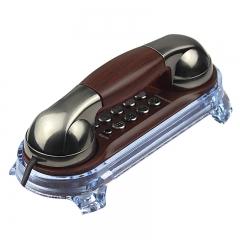 美思奇(MSQ)电话机座机 固定电话 办公家用 可壁挂 复古设计 MT-025钴镍色