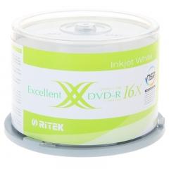 铼德(RITEK) 台产可打印 DVD-R 16速4.7G 空白光盘/光碟/刻录盘  桶装50片
