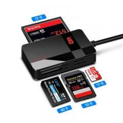 川宇USB3.0高速多功能合一读卡器Type-C OTG手机读卡器支持SD/TF/CF/MS单反相机行车记录仪存储卡 多卡多读