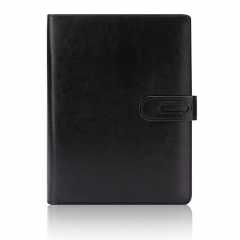 申士(SHEN SHI) B5/16K 9孔商务活页皮面本 办公记事笔记本子 黑色