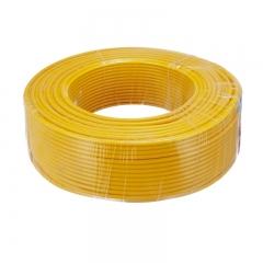 金山(JINSHAN)国标单芯塑铜线 硬线 电线 电缆 BV6平方 黄100M/盘