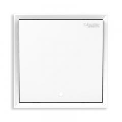 施耐德电气(Schneider Electric)开关插座面板 一开单控开关 带荧光指示 皓朗系列 清雅白色C2E31L1_WE