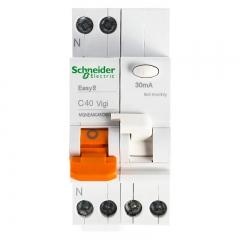 施耐德电气 带漏电保护断路器(A型) 空气开关 双进双出 1P+N C40A EA9系列MGNEA9C45C4030CAR