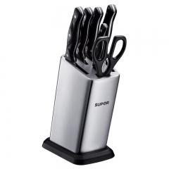 苏泊尔(SUPOR)7件套菜刀厨房刀具 不锈钢锋刃系列 TK1505E