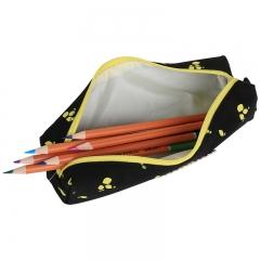 得力(deli)小清新笔袋简约学生铅笔收纳袋文具盒 颜色随机66643