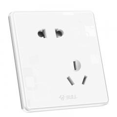 公牛(BULL) 开关插座 G18系列 斜五孔开关 86型插座面板G18Z223A 白色 10只装套装 暗装插座