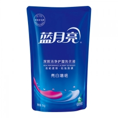 蓝月亮 洗衣液袋装亮白增艳1kg(自然清香)