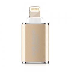 川宇苹果手机读卡器tf苹果内存卡扩容器ipad读卡器运动相机无人机读卡器苹果官方MFi认证金属迷你外观