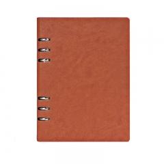 申士(SHEN SHI) A5/25K镂空活页商务记事本 办公笔记本 日记本 棕黄色j0425