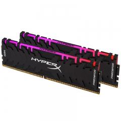 金士顿(Kingston) DDR4 3000 16GB(8G×2)套装 台式机内存 骇客神条 Predator掠食者系列 RGB灯条