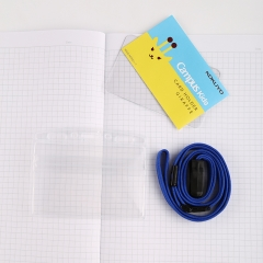 日本国誉(KOKUYO)Campus Kids儿童学生ID卡证件卡软壳胸卡挂牌吊牌56*91mm 长颈鹿WSG-NFK21-1