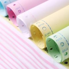 天章(TANGO)新绿天章三联二等分打印纸彩色针式电脑打印纸241-3-1/2S 80列(撕边 色序:白红黄1000页/箱)