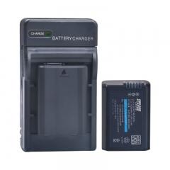 雷摄LEISE NP-FW50电池+充电器(两电一充)套装 索尼A6000 A5000  A6300 RX10 A7R2 NEX-5T(新老包装随机发货)
