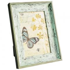 花间集 相框 6寸PS树脂相框 北欧风相框 清新绿色 植绒背板 横竖摆挂四用