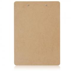 得力(deli)A4原木质感金属强力夹书写板夹文件夹 棕色9226