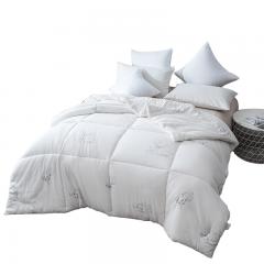北极绒 被芯家纺 春秋被 棉花被子 棉被 单人盖被 白色 150*200cm 4斤
