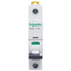 施耐德电气(Schneider Electric)单进单出标准型空气开关 Acti9系列 1P C16A 家用微型断路器 A9F18116R