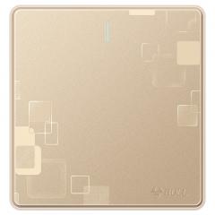 公牛(BULL) 开关插座 G18系列 一开单控开关 86型插座面板 G18K111 玫瑰金 暗装