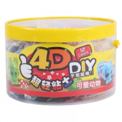 晨光(M&G)文具4D可爱动物轻质粘土橡皮泥彩泥手工 套装 12色/盒AKE03903