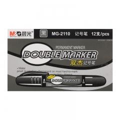 晨光(M&G)粗杆黑色双头物流记号笔 12支/盒MG2110