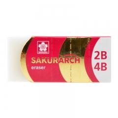 日本樱花(SAKURA)学生橡皮擦2B4B橡皮考试美术绘图 3块套装(红色包装)