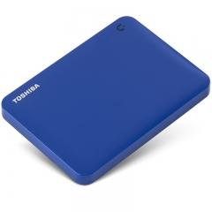东芝(TOSHIBA) 1TB USB3.0 移动硬盘 V8系列 2.5英寸 兼容Mac 轻薄便携 时尚多彩 轻松备份 高速传输 神秘蓝