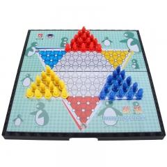先行者跳棋磁石折叠棋盘跳棋E-9 大号便携式