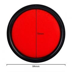 得力(deli)9869 圆形φ85mm秒干印台 红