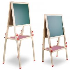 巧之木(QZMTOY)儿童玩具画画板写字板 黑板白板家用双面磁性可升降 早教绘画工具文具画架夹支架式