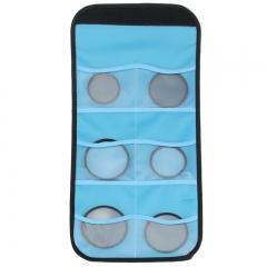 天气不错 滤镜包六片装 适合95mm口径以内单反微单相机佳能/尼康/索尼等UV滤镜收纳保护包