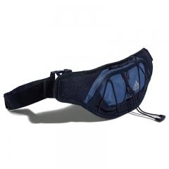 阿迪达斯adidas 男女包 RUN WAIST BAG 运动训练休闲便携收纳跑步腰包 DY5725 中蓝灰
