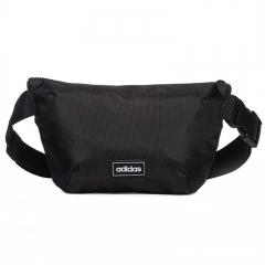 阿迪达斯adidas 男女包 Waistbag 运动休闲单肩包斜挎包腰包 ED0251 黑灰白