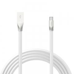 品胜(PISEN)锌合金Type-C数据线1.2米 USB-C充电器线 适用于华为P10/小米5S/魅族pro5/乐视 白