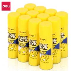 得力(deli)20g高粘度PVP固体胶水 无甲醛快干耐用胶棒 12支装 办公用品 7092