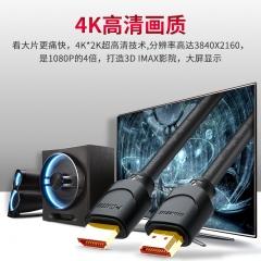 山泽(SAMZHE) HDMI线2.0版 4K数字高清线 3D视频线数据线 2米 18Gbps 投影仪电脑电视机机顶盒连接线 20SH8